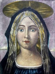 Madonna (Restrike Etching) by Anonymous