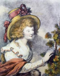 Autumn Girl (Restrike Etching) by Anonymous