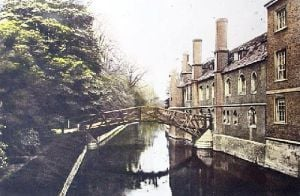 Queens College, Cambridge (Restrike Etching) by Anonymous