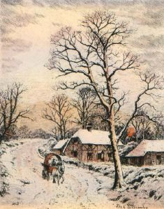 Winter (Restrike Etching) by Frederick Albert Slocombe