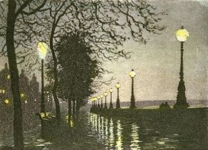 The Embankment (Restrike Etching) by Anonymous