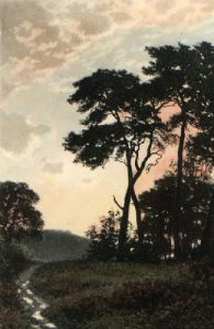 Sunset (Restrike Etching) by Anonymous