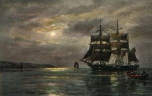 Evening Calm (Restrike Etching) by Wilde Parsons