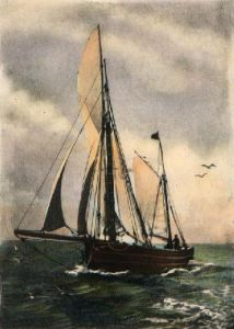 Fishing Boat (Restrike Etching) by Anonymous