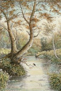 Haunt of the Kingfisher (Restrike Etching) by Anonymous