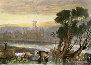 Kirkstall Abbey (Restrike Etching) by Joseph Mallord William Turner