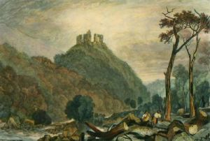 Okehampton Castle, River Okemont (Restrike Etching) by Joseph Mallord William Turner