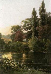 Evening Calm (Restrike Etching) by Georgina M De L'Aubiniere
