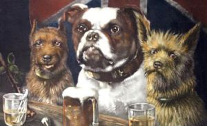 Dogs of the Union (Restrike Etching) by R.S. Moseley