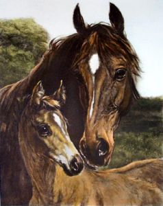 Thoroughbred (Small) (Restrike Etching) by Heywood Hardy