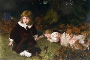 Babes in the Wood (Restrike Etching) by William Robert Symonds