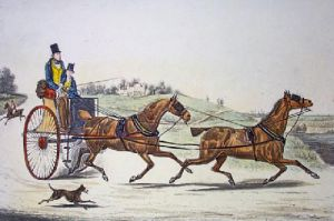 Sporting Tandem : Going to Cover (Restrike Etching) by Henry Alken