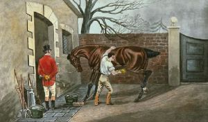The Pet of the Stable (Restrike Etching) by TNH Walsh