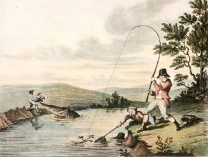 McLeans Fishing - Plate I (Restrike Etching) by Anonymous