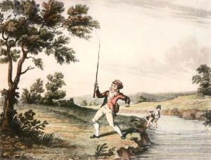 McLeans Fishing - Plate IV (Restrike Etching) by Anonymous