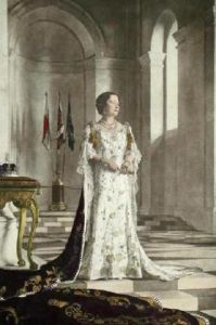 The Queen Mother (Restrike Etching) by Sir Gerald Kelly