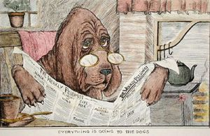 Everything's going to the Dogs (Restrike Etching) by Anonymous