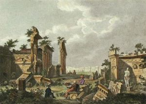 Ruins of Balbec (Restrike Etching) by Anonymous