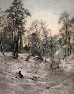 Shortening Winter Day near Close (Restrike Etching) by Joseph Farquharson