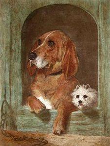 Dignity & Impudence (Restrike Etching) by Sir Edwin Henry Landseer