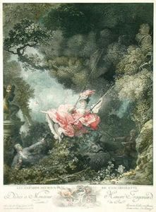 The Swing (Restrike Etching) by Jean-Honoré Fragonard