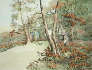 Pheasant Shooting (Restrike Etching) by Henry Alken