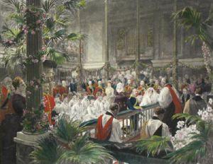 Royal Wedding (Restrike Etching) by Arthur William Devis