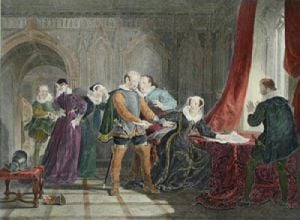 Mary Queen of Scots Abdication (Restrike Etching) by William Allan