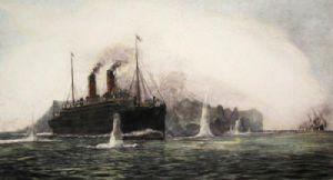 Cape Trafalgar & Carmancur (Restrike Etching) by William Lionel Wyllie