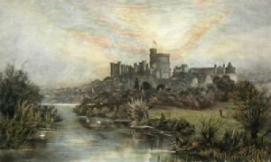 Windsor Castle from Clewer (Restrike Etching) by Anonymous