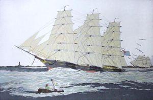 Thomas Bell Tea Clipper (Restrike Etching) by Geoffrey S. Garnier