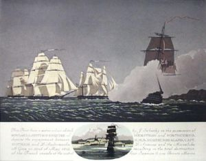 HMS Northumberland - May 1812 (Restrike Etching) by Geoffrey S. Garnier