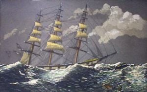 Sailing the Moonlit Sea (Restrike Etching) by Geoffrey S. Garnier