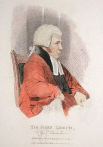 Sir John Leach, Vice Chancellor (Restrike Etching) by Abraham Wivell