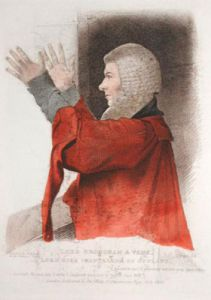 Lord Broughman & Vaux (Restrike Etching) by Abraham Wivell