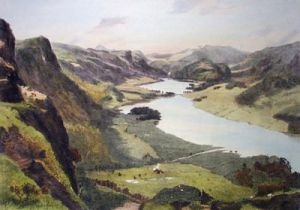 Lake Thirlmere (Restrike Etching) by A. Heaton Cooper