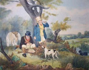 Gamekeeper Refreshing (Restrike Etching) by Samuel J. E. Jones