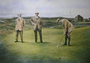 The Great Triumvirate (Restrike Etching) by Terence Gilbert