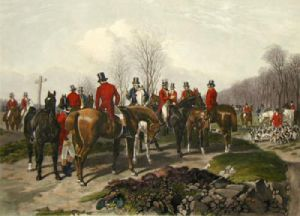 The Meet (Restrike Etching) by John Frederick Herring