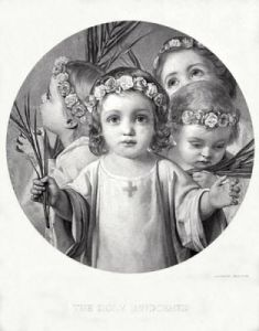 The Holy Innocents (Restrike Etching) by William Charles Thomas Dobson