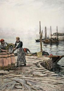 Herring Fishing (Restrike Etching) by Colin Hunter