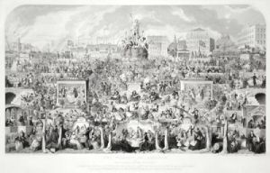 Worship of Baccus (Restrike Etching) by George Cruikshank