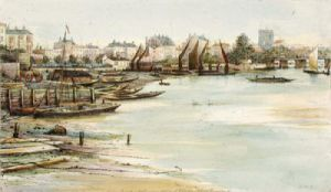 Chelsea Harbour (Restrike Etching) by Anonymous