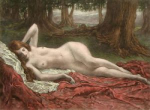 Diva Magdalena (Restrike Etching) by Anonymous