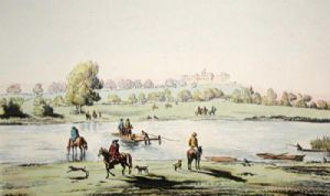 Datchet Mead & Ferry (Restrike Etching) by F.W. Fairhurst