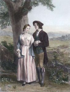 Burns and Highland Mary (Restrike Etching) by Alexander Johnston