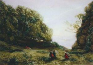 Biblis (Restrike Etching) by Jean-Baptiste-Camille Corot