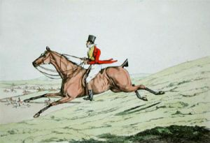 How to ride downhill (Restrike Etching) by Anonymous