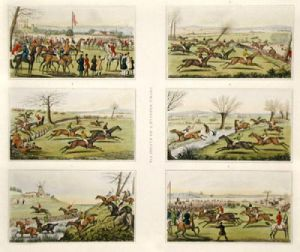 Six Points of a Steeplechase (Restrike Etching) by Anonymous