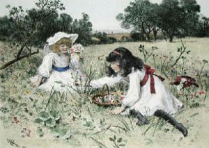 Wild Flowers (Restrike Etching) by William Stephen Coleman